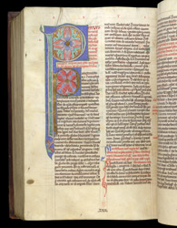 Illuminated Initials, In Peter Lombard, Commentary On The Pauline Epistles f.232v